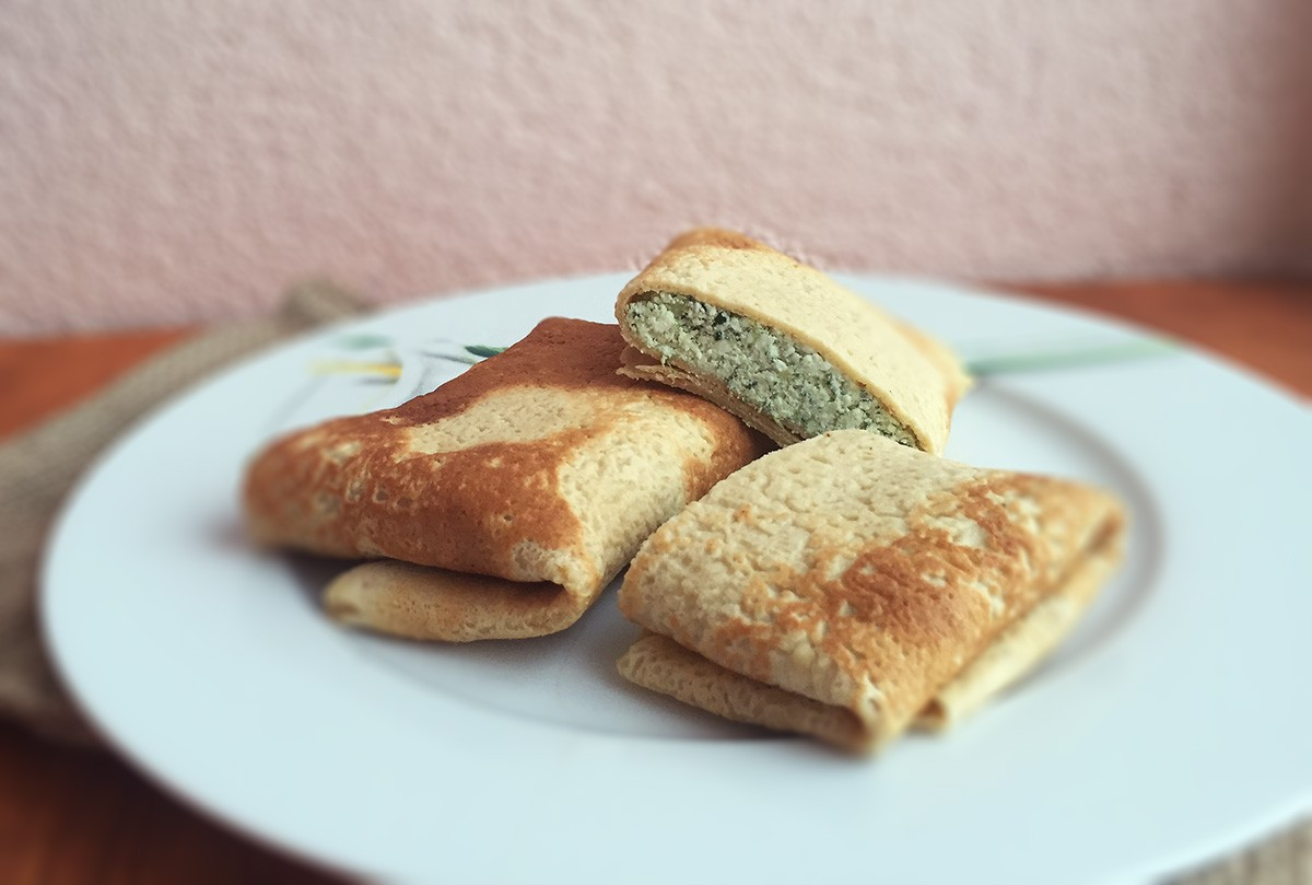 Chick-pea flour pancakes