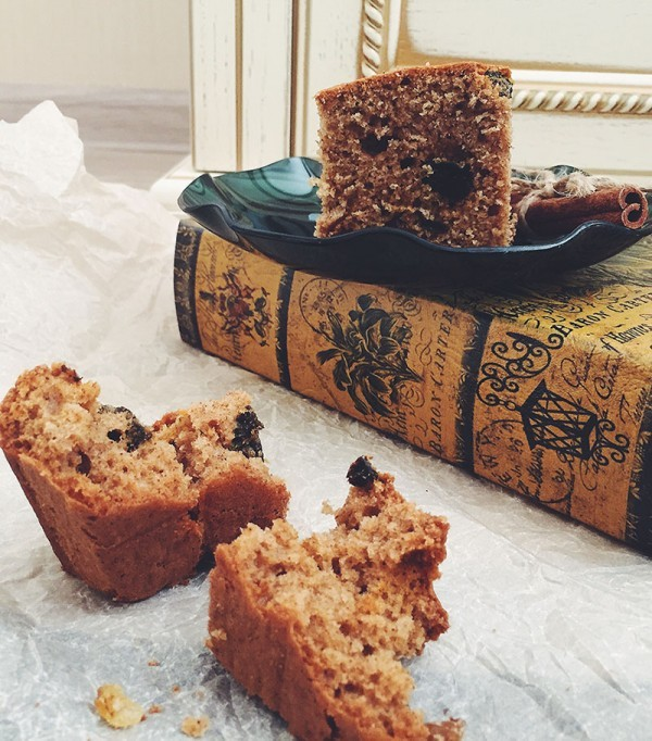 Ржаной пирог с черносливом