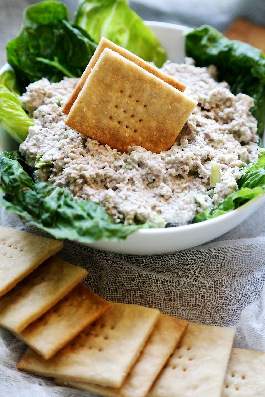 Постное печенье: соленый крекер за 15 минут