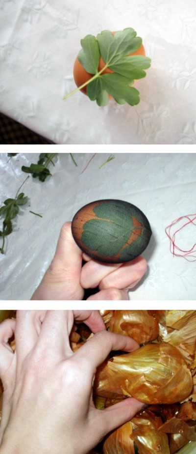 How beautiful to paint eggs for Easter onion skins