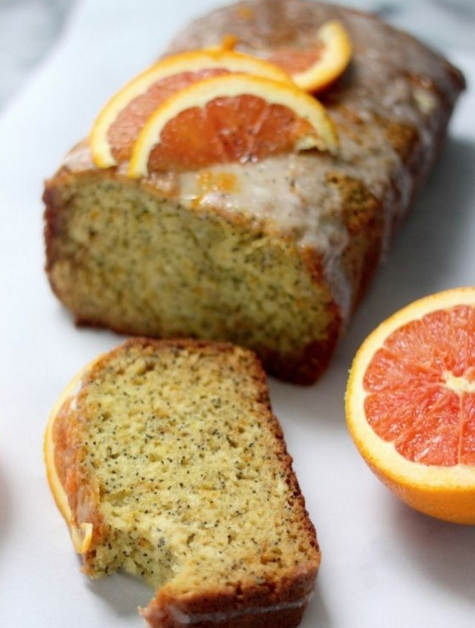 Orange zucchini-cake with poppy seeds